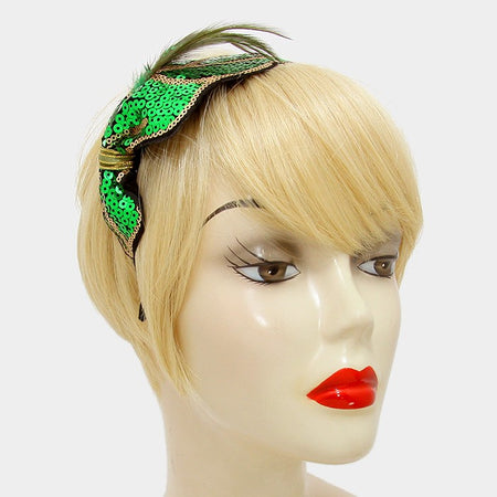 Braided Faux Suede & Striped Anchor Stretch Headband