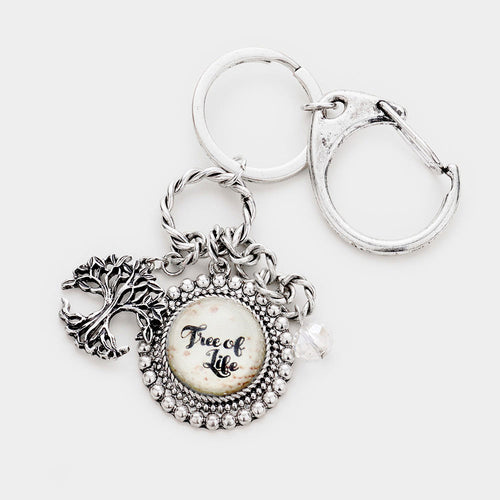 Tree Of Life Metal Charm Key Chain