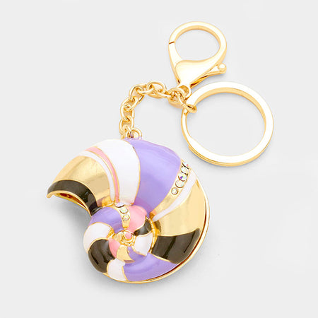 Ice Cream Cone Puffy Key Chain
