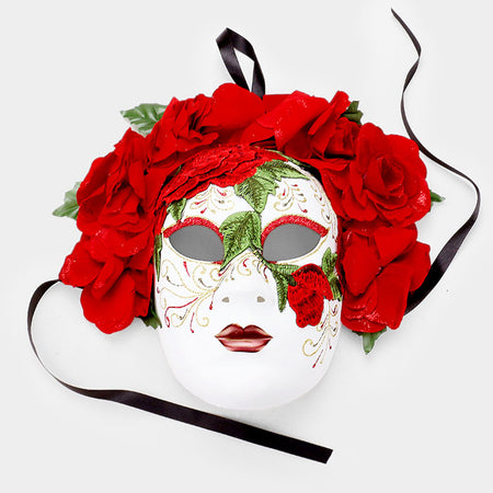 Crystal Glass Masquerade Party Queen Mask