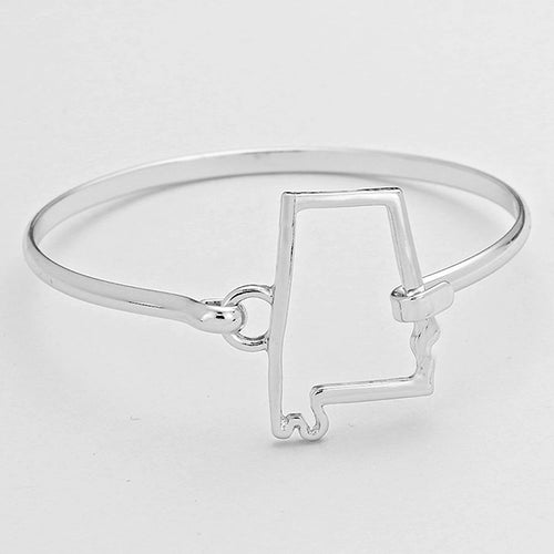 """Alabama"" Metal Bangle Bracelet"