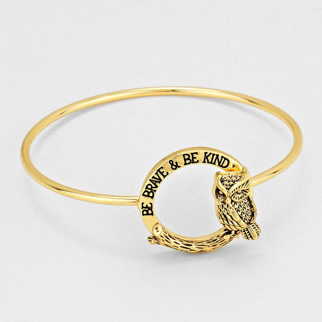"""Be Brave & Be Kind"" Bangle Bracelet"