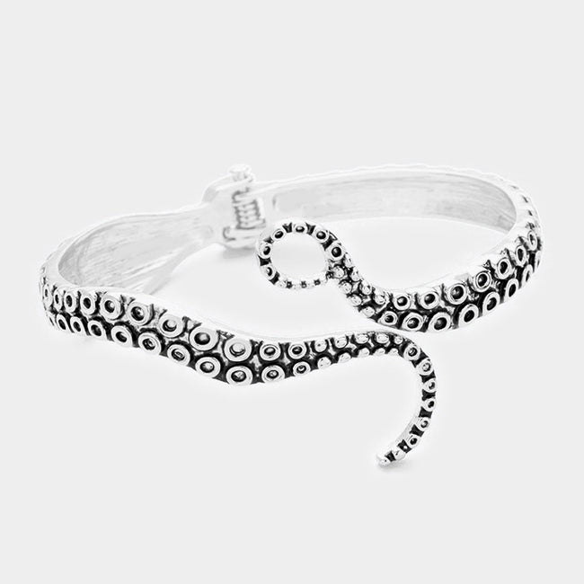 Octopus Tentacle Open Bracelet