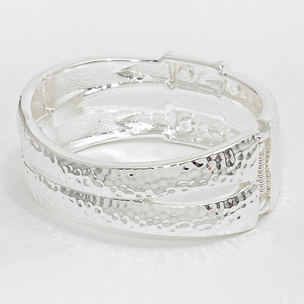 Metal Hinged Bangle Bracelet