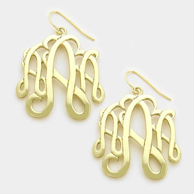 A Monogram Earrings