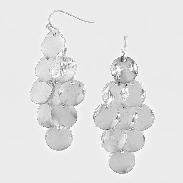 Metal Disc Chandelier Earrings