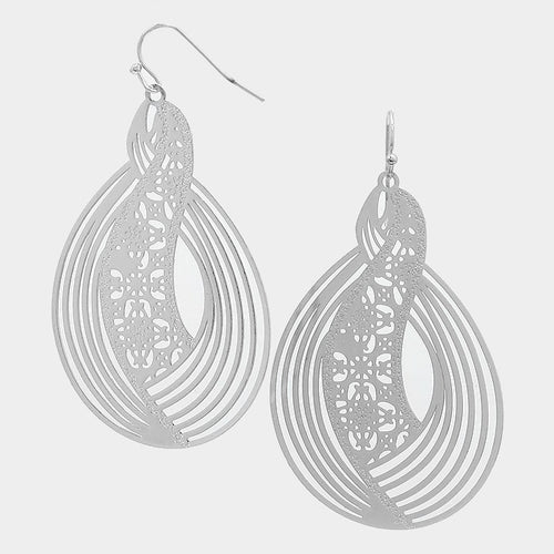 Rhythmic Cut Out Metal Earrings