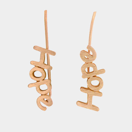 Metal Hope Earrings