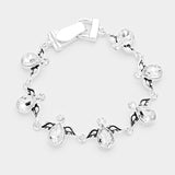 Crystal Teardrop Angel Wings Linked Magnetic Bracelet