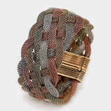 Braided Metal Mesh Magnetic Bracelet