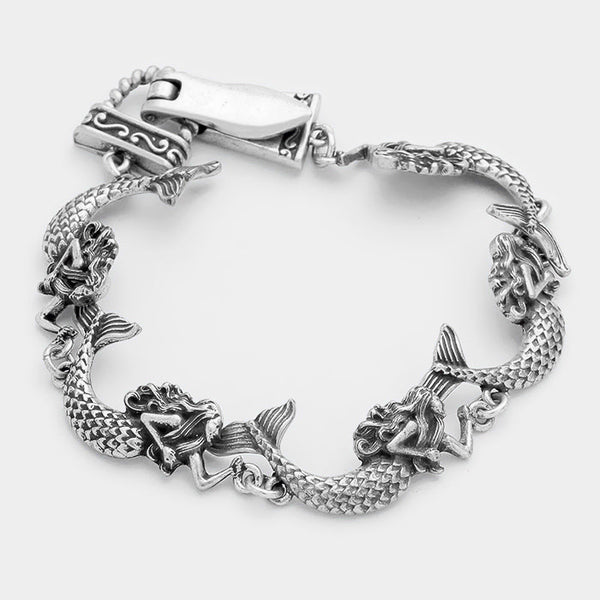 Metal Mermaid Link Magnetic Bracelet