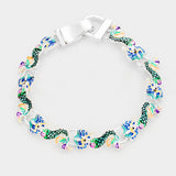 Enamel Mermaid Metal Linked Magnetic Bracelet