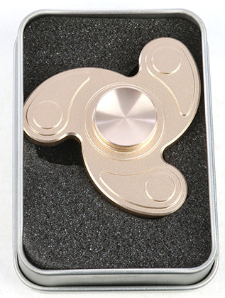 Golden Matte Finish Fidget Spinner - Tin Box