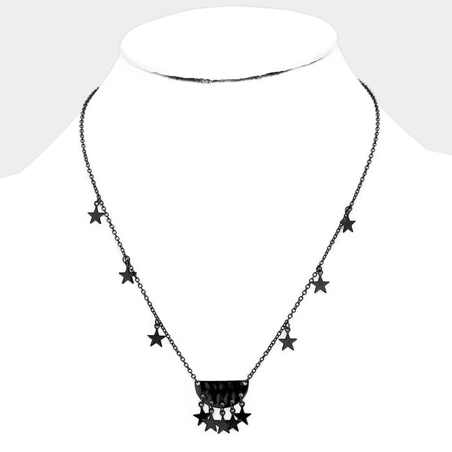 Multi Metal Star Pendant Necklace
