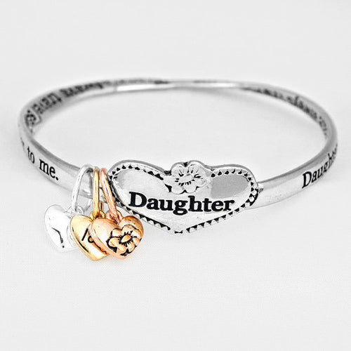 """daughter"" Message Bracelet"