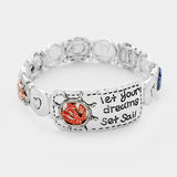 Let Your Dreams Set Sail _ Anchor Metal Stretch Bracelet