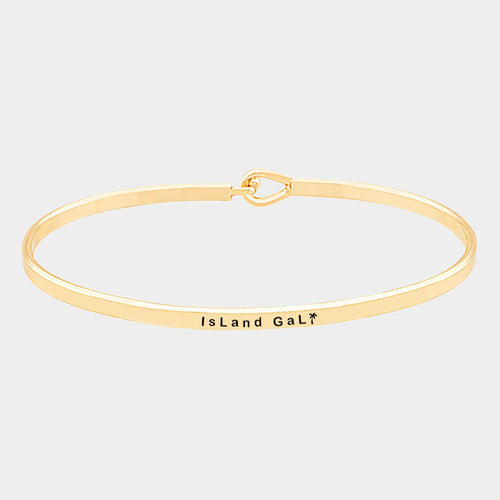 Island Gal Brass Thin Metal Hook Bracelet