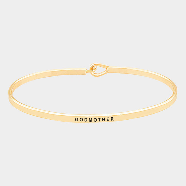 Godmother Brass Thin Metal Hook Bracelet