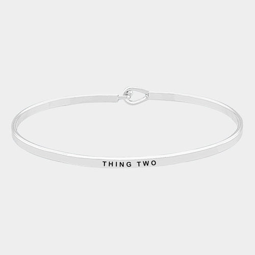 Thing Two Brass Thin Metal Hook Bracelet