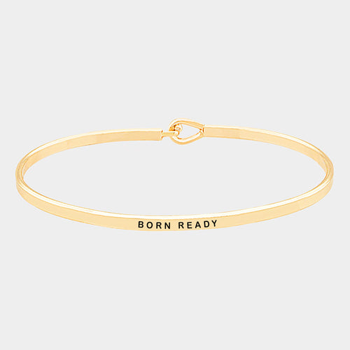 Born Ready Brass Thin Metal Hook Bracelet