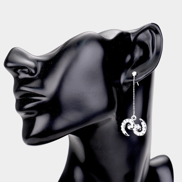 Cancer - Zodiac Sign Dangle Earrings