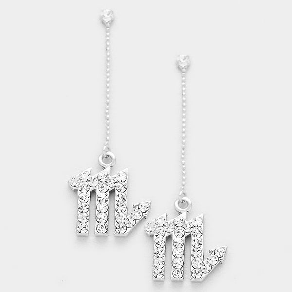 Scorpio - Zodiac Sign Dangle Earrings