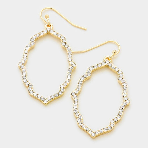 Crystal Moroccan Hoop Earrings