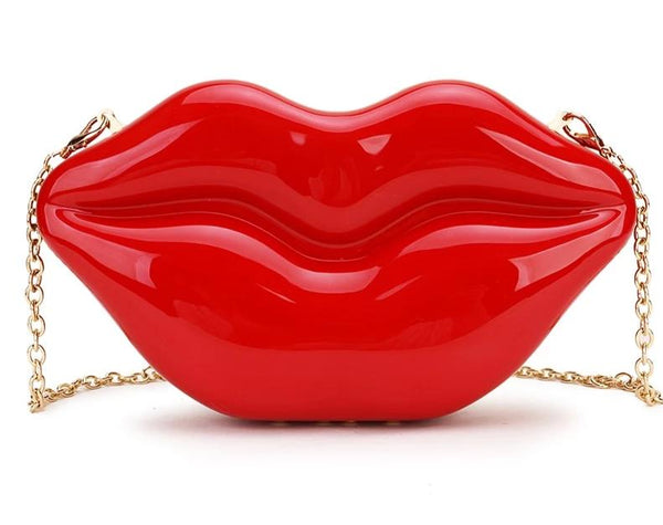 Sexy Red Lips Dazzling Clutch Bag