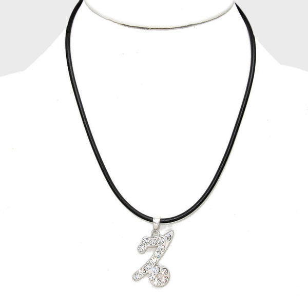Capricorn - Pave Zodiac Pendant Necklace