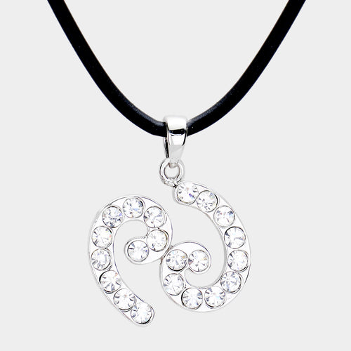 Cancer - Pave Zodiac Pendant Necklace