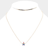 Gold Dipped Cubic Zirconia Star Pendant Necklace