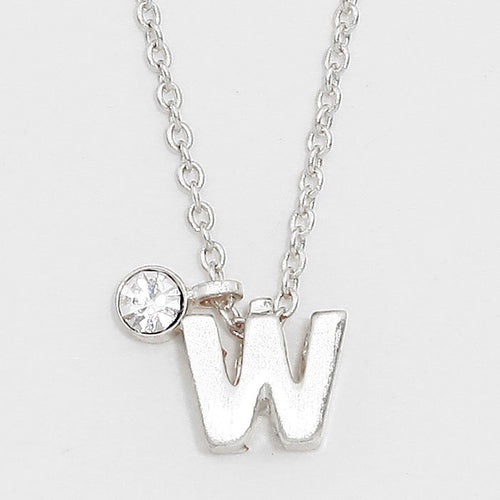 'W' Letter Pendant Necklace