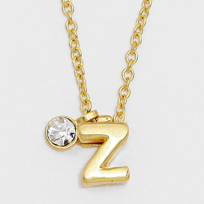 'Z' Letter Pendant Necklace