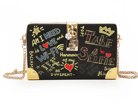 Sexy Transparent Cartoon Clutch Bag