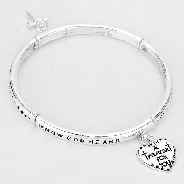 """Prayer For You"" Religious Bracelet"