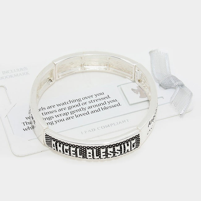"""Angel Blessing"" Metal Stretch Bracelet"