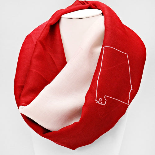 """Alabama"" Polyester Infinity Scarf"
