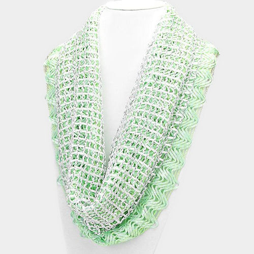 Double Layer Mesh Infinity Scarf
