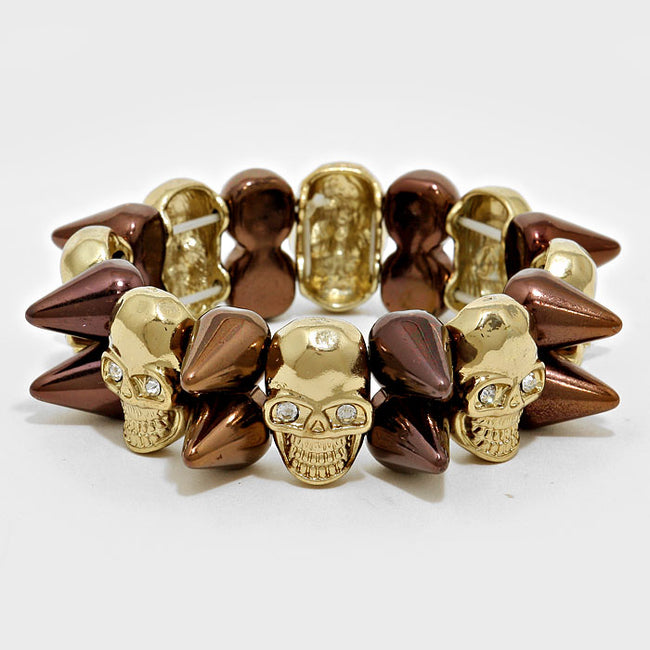 Skull Spike Stretch Bracelet