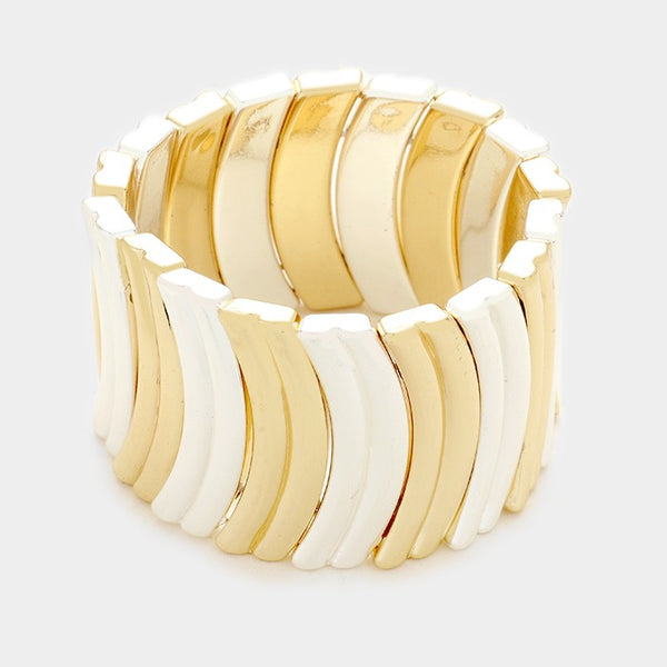 Metallic Resin Stretch Bracelet