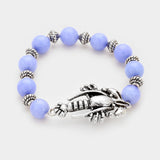 Lobster Beaded Stretch Bracelet