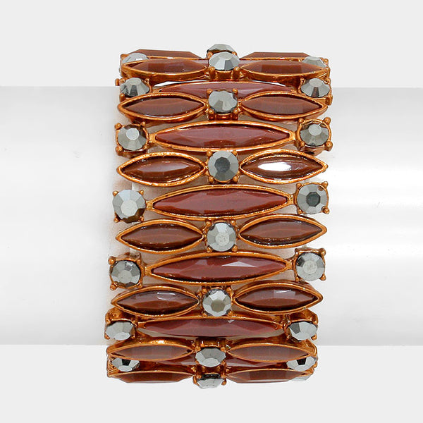 Marquise Bubble Stretch Bracelet