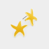 Matte Starfish Stud Earrings