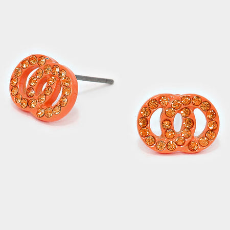 Colored Metal Disc Cluster Earrings