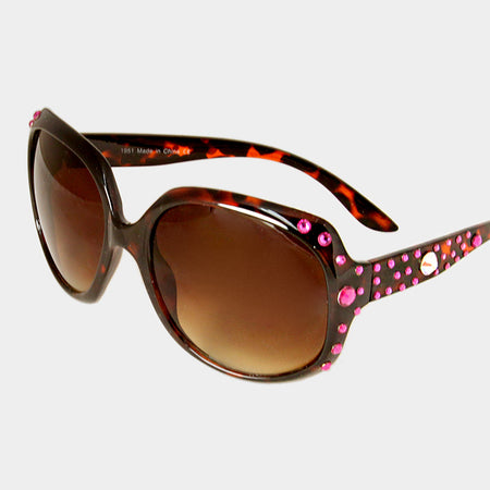 Hot Pink Bubbly Cat Eye Uv Protection Optical Glasses