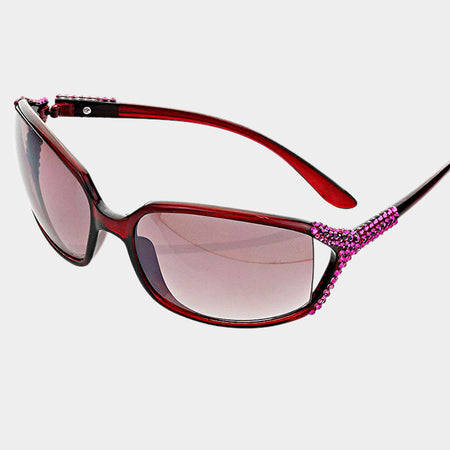 Purple Cat Eye Uv Protection Sunglasses