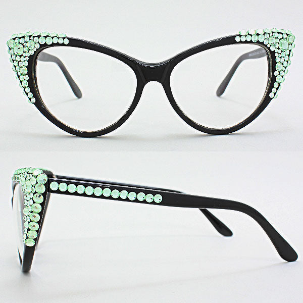 Mint Bubbly Cat Eye Uv Protection Optical Glasses