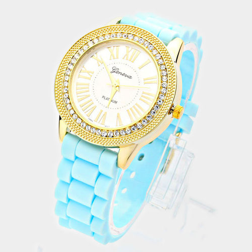 Crystal Accented Fashion Watch