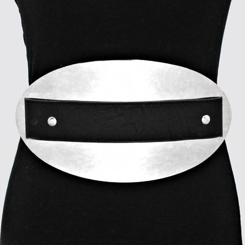 Oversized Rectangular Oval Elastic Stretchable Belt