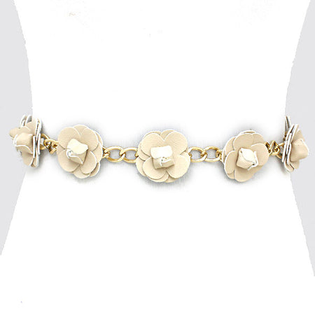 Chic Golden Stretchable Bow Belt